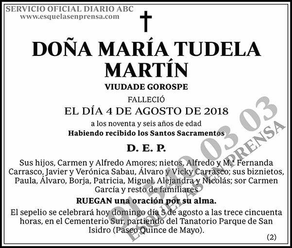 María Tudela Martín